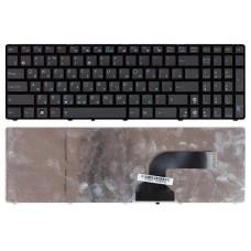 Клавиатура для ноутбука Asus A53E, A53S, A73E, A73S, G51, G53, G60, G72, G73, K52, K53E, K53S, K72, K73E, K73S, N61, N71, U50, UL50, X52B, X52D, X52F, X52J, X53E, X53S, X64, X72, X73C, X73E, X73S, X77 Черная, с рамкой