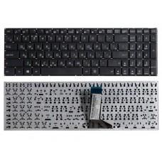Клавиатура для ноутбука Asus X551, X551C, X551CA, X551M, X551MA, X551MAV, X552C, X552E, D550, D550C, D550CA, D550MAV, F550, F550V, F551, F551C, F551CA, F551M, F551MA, F551MAV, R512, R512C, R512CA, R512M, R512MA, R512MAV, R513C Черная, без рамки