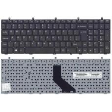 Клавиатура для ноутбука DNS 0123975, 0164801, 0164802, 0170720, 0170727, 0170728, 0801482, Clevo W350, W370, W650, W655, W670 Черная, без рамки
