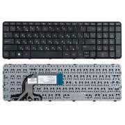 Клавиатура HP 250 G3, 255 G2, 255 G3, Pavilion 15-d, 15-e, 15-g, 15-n, 15-r, 15-s, 15t-e, 15t-n, 15z-e, 15z-n Черная, с рамкой