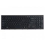 Клавиатура для ноутбука Sony Vaio VPC-EB чёрная, чёрная с рамкой