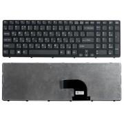 Клавиатура Sony Vaio E15, E17, SVE15, SVE1511, SVE1512, SVE1513, SVE151J, SVE17, SVE1711, SVE1712 Черная, черная рамка