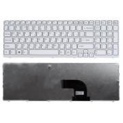 Клавиатура Sony Vaio E15, E17, SVE15, SVE1511, SVE1512, SVE1513, SVE151J, SVE17, SVE1711, SVE1712 Белая, белая рамка